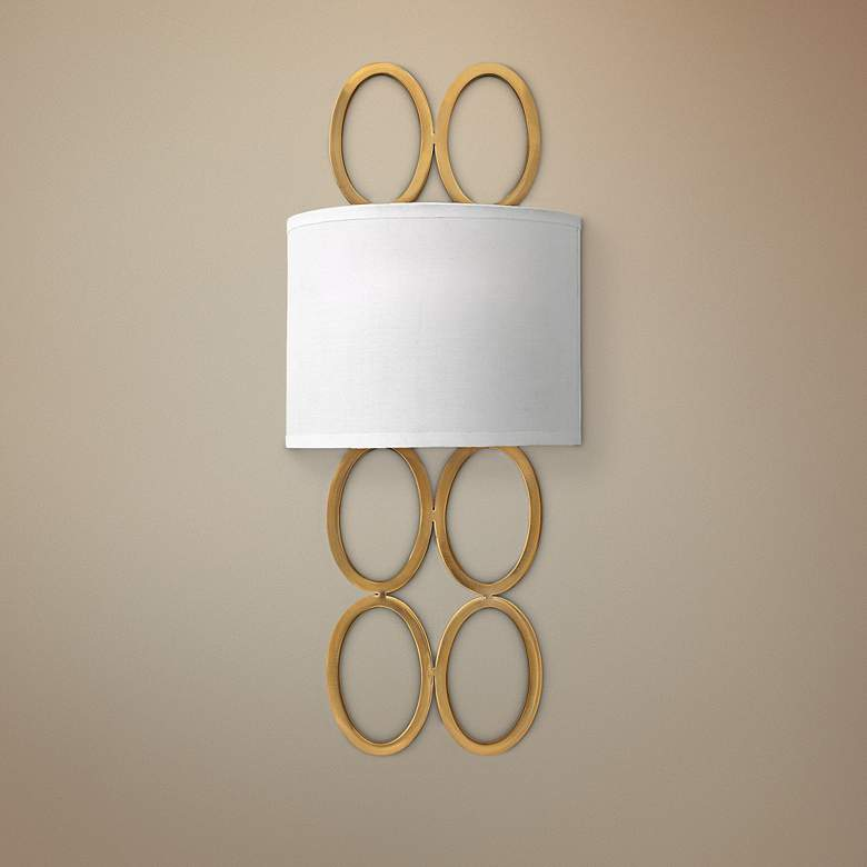 "Hinkley Jules 20 1/2"" High Brushed Gold Wall"