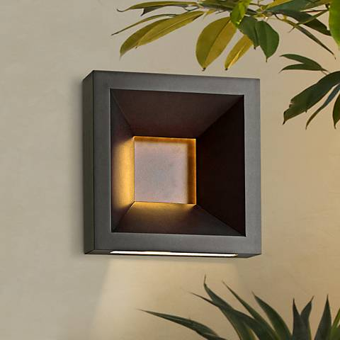 "Hinkley Plaza 10"" High Bronze LED Outdoor Wall Light"