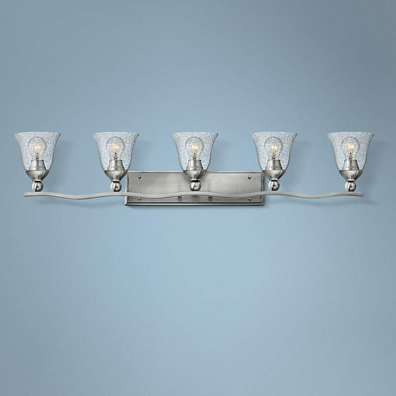 "Bolla 45 3/4"" Wide Brushed Nickel 5-Light Bath"