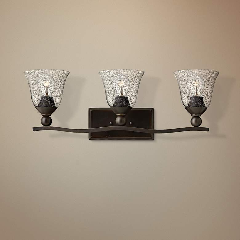 "Hinkley Bolla 26"" Wide Olde Bronze 3-Light Bath"