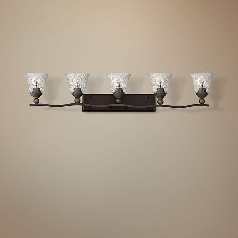 "Bolla 45 3/4"" Wide Olde Bronze 5-Light Bath"