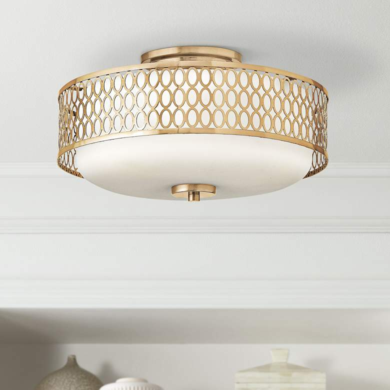 "Hinkley Jules 8 1/4"" High Brushed Gold Ceiling"