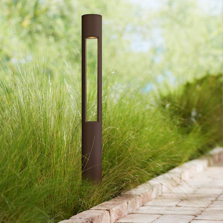 "Hinkley Atlantis 30""H Bronze Bollard Landscape Light"
