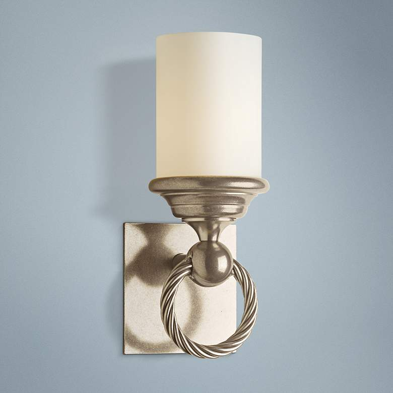 "Hubbardton Forge Cavo Opal 12 1/2""H Soft Gold"