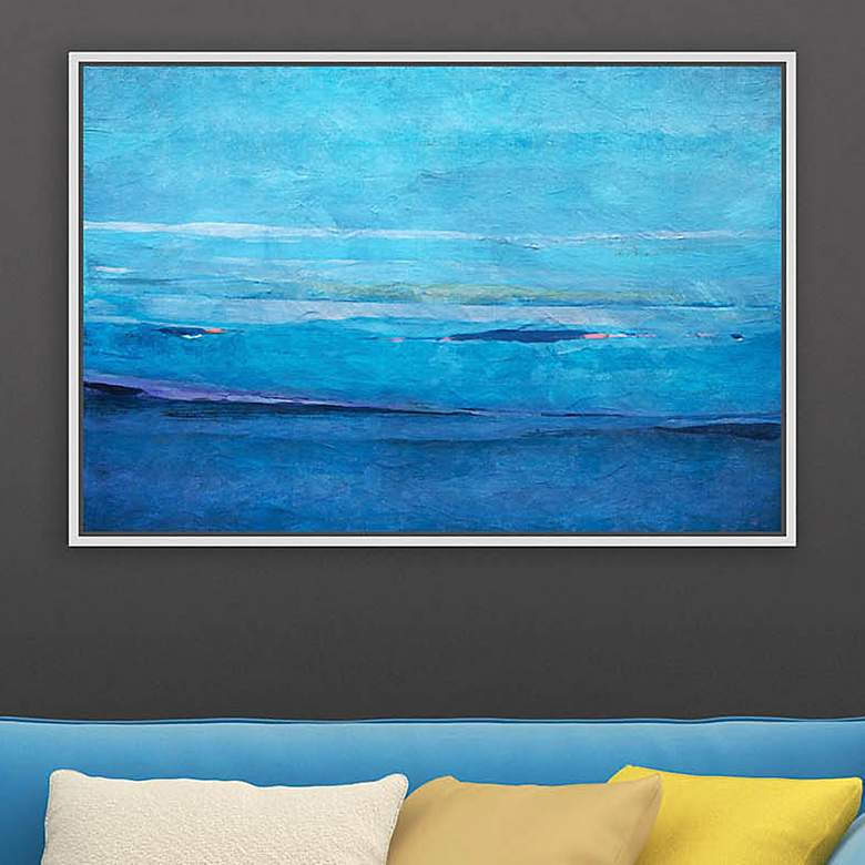 "Ocean II 29 3/4"" Wide Framed Giclee Canvas Wall Art"