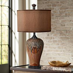 Crestview Collection Hera Metallic Ultra-Gloss Table Lamp