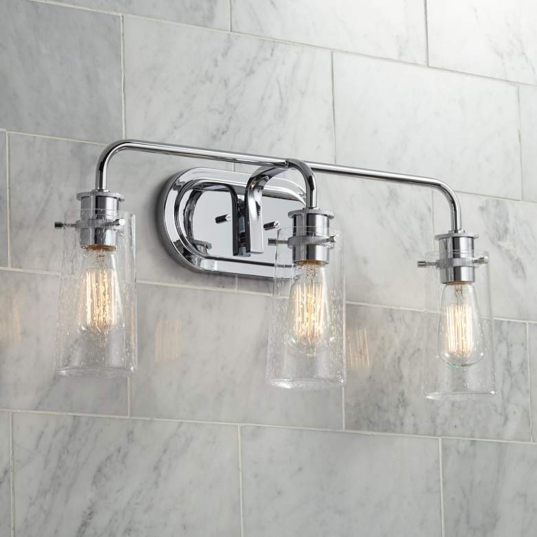 "Kichler Braelyn 24"" Wide Chrome 3-Light Bath Light"