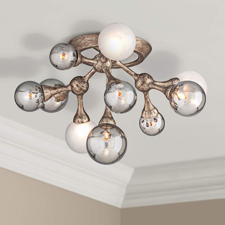 "Corbett Element 22 3/4"" Wide Bronze 10-Light Ceiling Light"