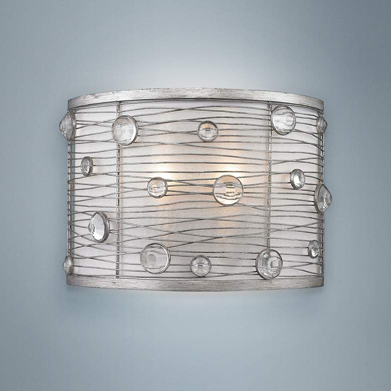 "Joia 7"" High Peruvian Silver Wall Sconce"
