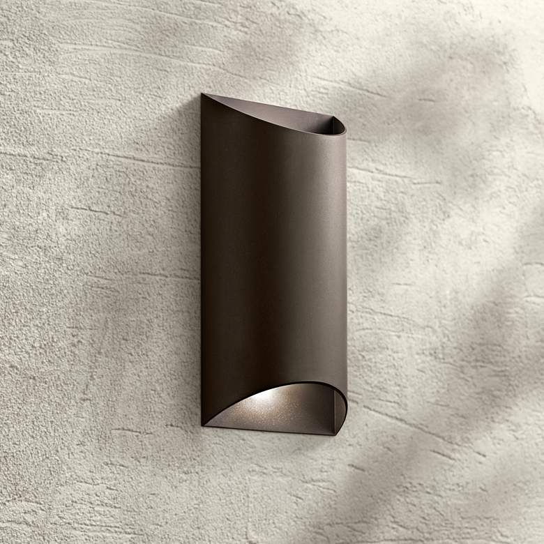 "Kichler Wesley 14"" High LED Bronze Outdoor Wall"