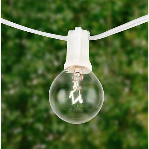 Clear 24-Bulb White Wire 25' Holiday Party String Light