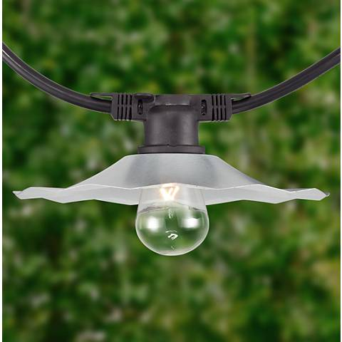 City Metro 48' Galvanized Shade 24- Bulb String Light