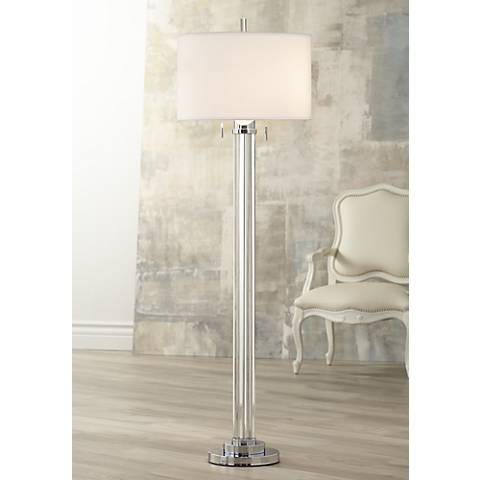 Possini Euro Cadence Crystal Column Floor Lamp