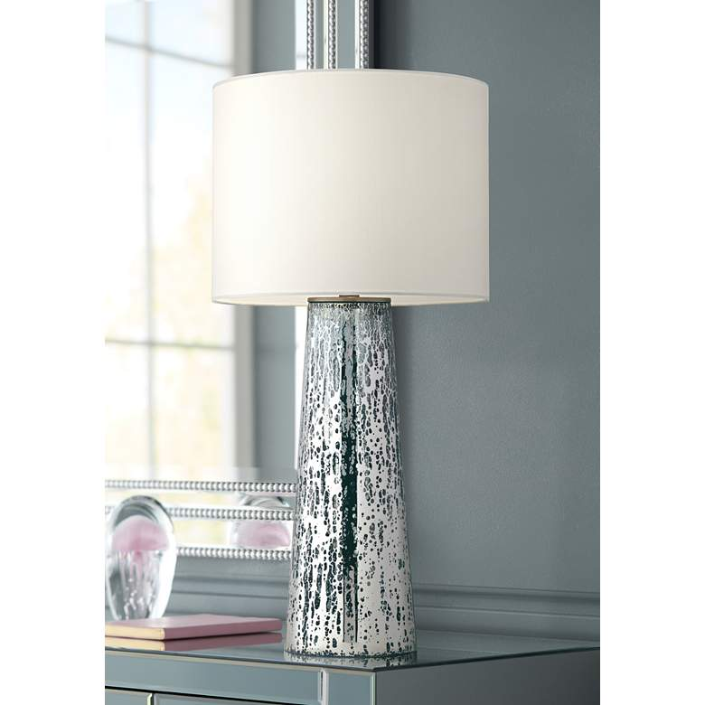 Marcus Mercury Glass Tapered Column Table Lamp