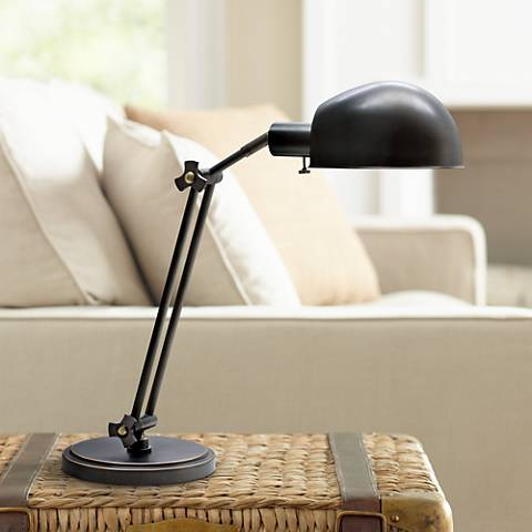 House of Troy Addison Adjustable Oiled Bronze Desk Lamp