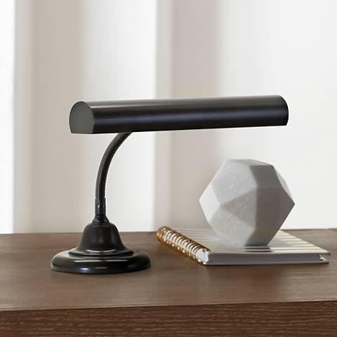 House of Troy Advent Gooseneck Black Piano Desk Lamp
