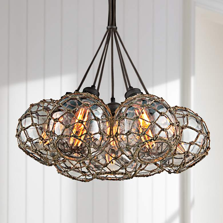 "Outer Banks 24 1/4"" Wide Shipyard Bronze Pendant Light"