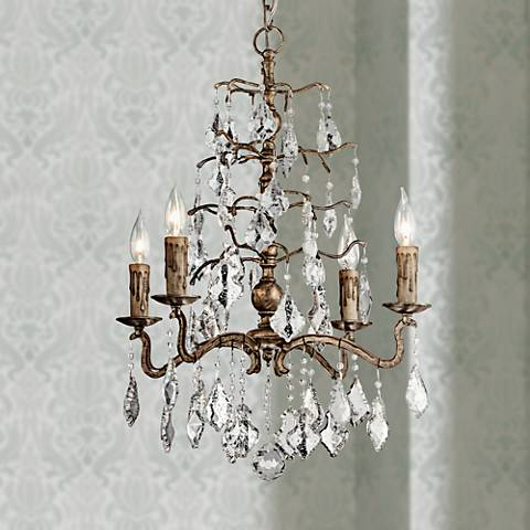 "Siena 16 1/4"" Wide Vienna Bronze Chandelier"