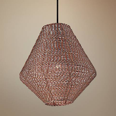 "Maxim Twisp 15"" Wide Copper Pendant Light"