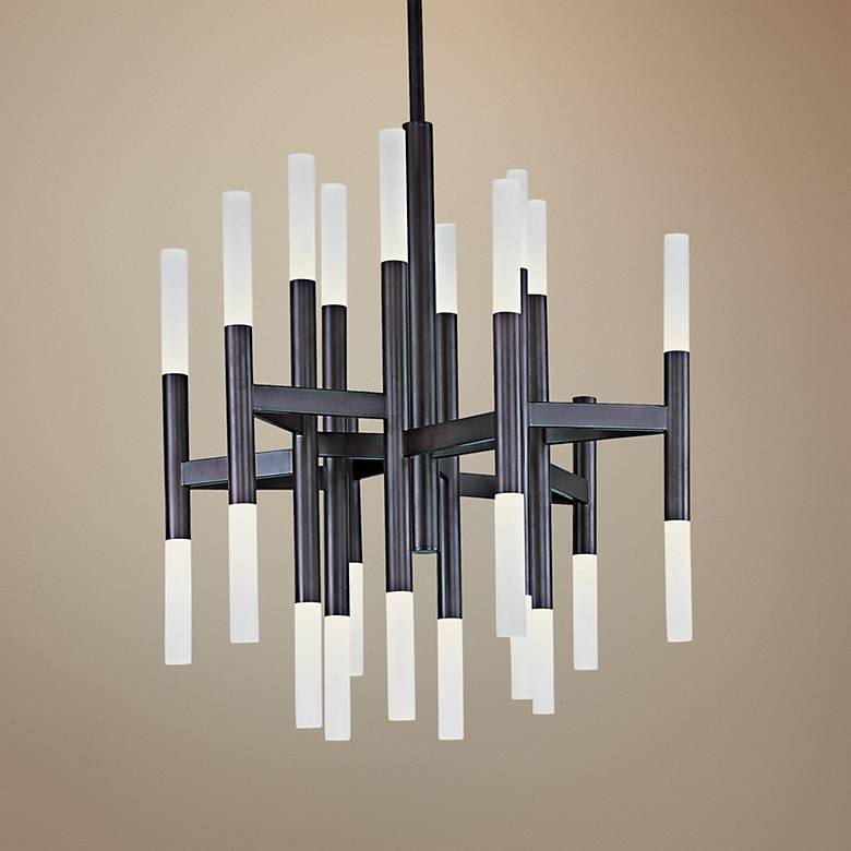 "Maxim Pinnacle 26"" Wide Bronze LED Chandelier"