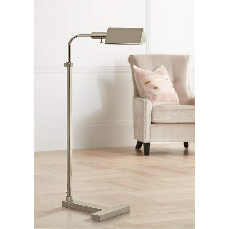 Fairfax Adjustable Polished Nickel Pharmacy Floor Lamp