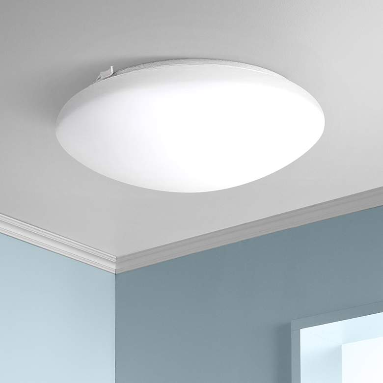 "Deft 12""W ENERGY STAR® LED Round White Ceiling"