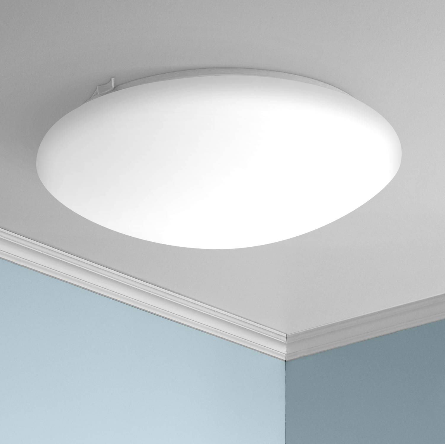 Deft 16 wide round white led ceiling light