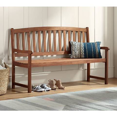 Grove River Dark Natural Acacia Outdoor Bench