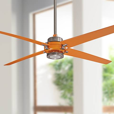 "60"" Minka Aire Spectre Orange - Nickel LED Ceiling Fan"