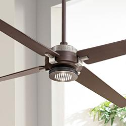 "60"" Minka Aire Spectre Bronze - Nickel LED Ceiling Fan"