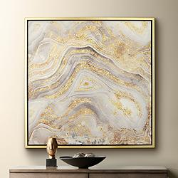 "Golden Sands of Time II 43"" Square Framed Wall Art"