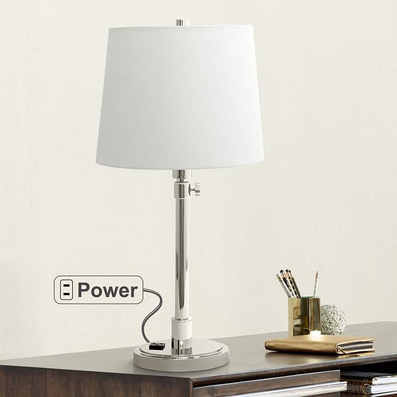 House of Troy Townhouse Nickel Desk Lamp with