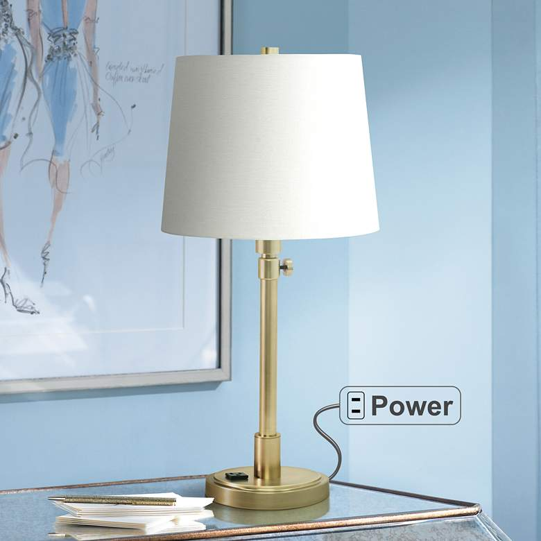 House of Troy Townhouse Brass Desk Lamp with
