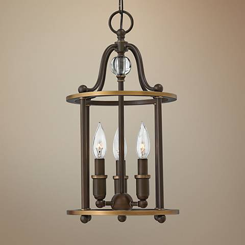 "Hinkley Elaine 9 3/4"" Wide Light Oil Bronze Mini Pendant"