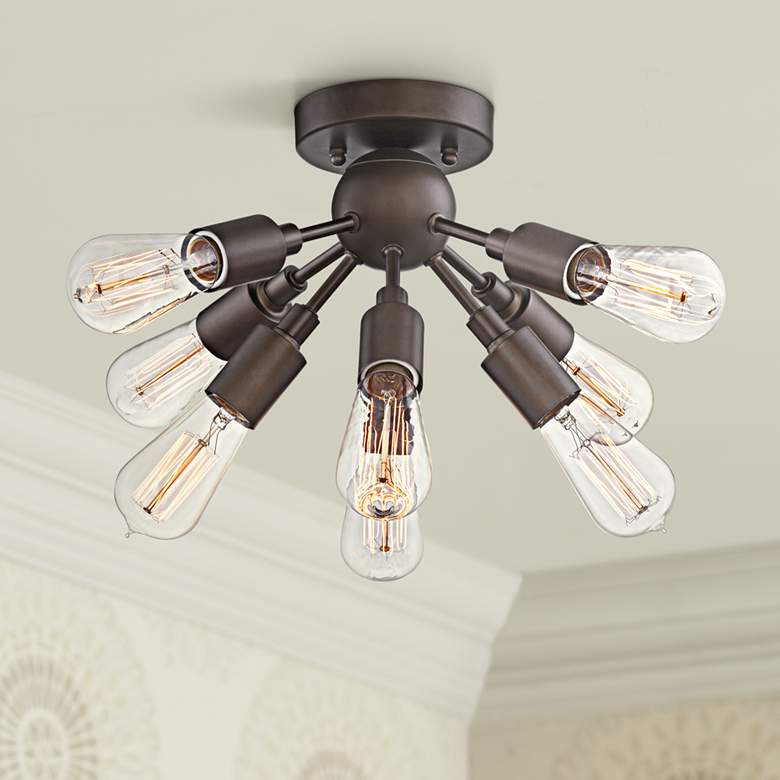 "Hemingson 20 3/4"" Wide Bronze 8-Light LED Ceiling"