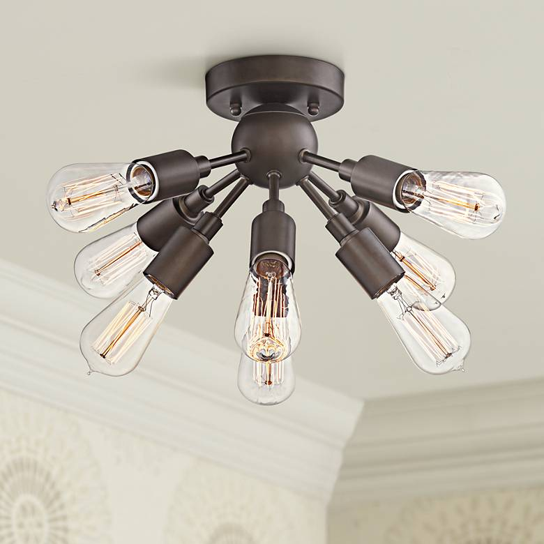 "Hemingson 20 3/4"" Wide Bronze 8-Light LED Ceiling Light"