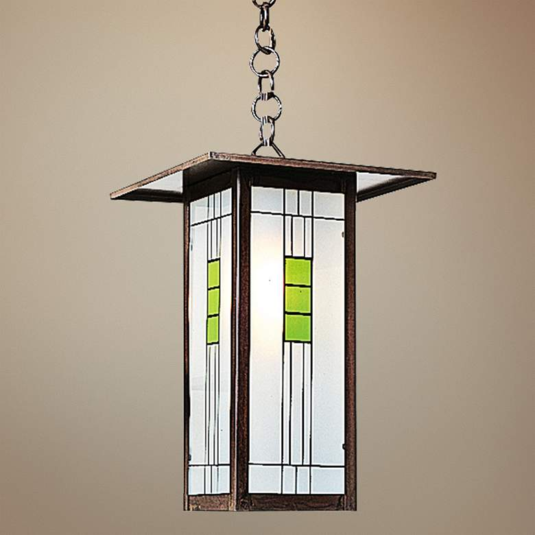 "Franklin 9""W Bronze Outdoor Mini-Pendant by Arroyo Craftsman"