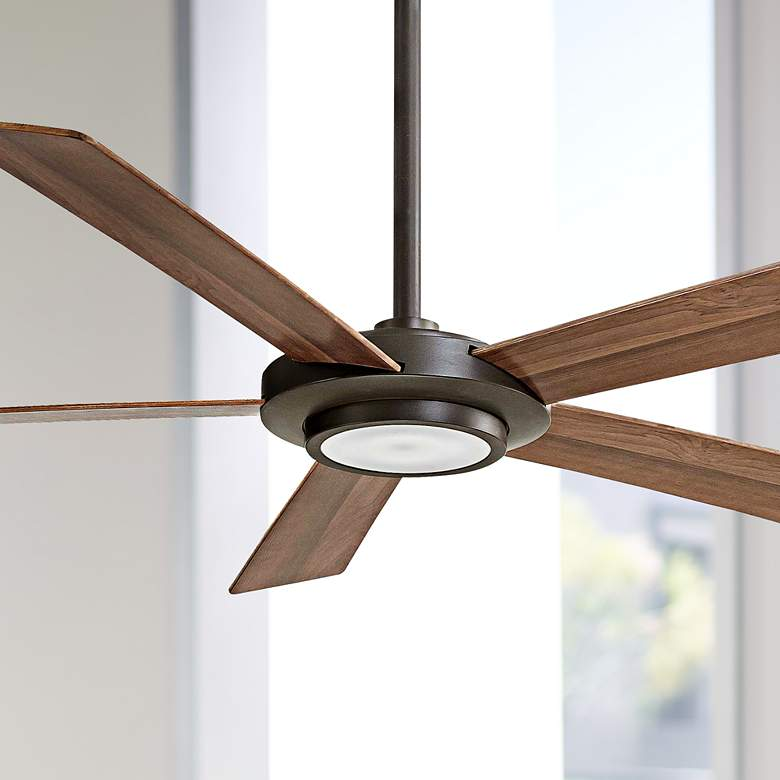 "52"" Minka Aire Sabot Oil-Rubbed Bronze LED Ceiling"