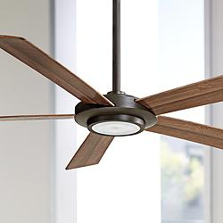 "52"" Minka Aire Sabot Oil-Rubbed Bronze LED Ceiling Fan"