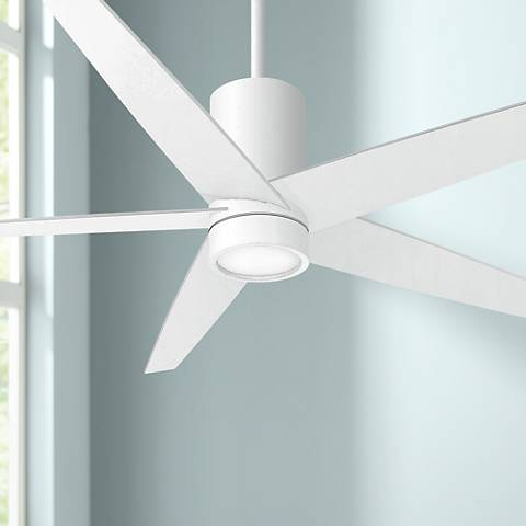 "56"" Minka Aire Symbio Flat White LED Ceiling Fan"