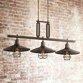 Garryton 44 W Oil Rubbed Bronze Linear Chandelier