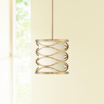 "Austen 8"" Wide Plated Gold Mini Pendant Light"