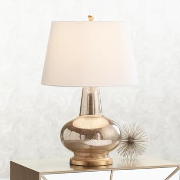 Errol Long Neck Gourd Mercury Glass Table Lamp