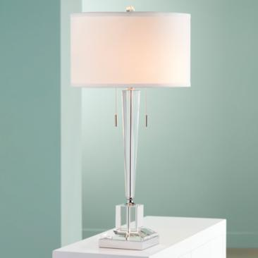 Renee Clear Crystal Glass Table Lamp by Vienna Full Spectrum