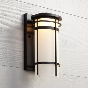 "Possini Euro Clemson 13"" High Bronze LED Outdoor Wall Light"
