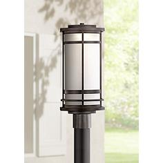 Modern outdoor post lights lamps plus possini euro clemson 18 34 workwithnaturefo