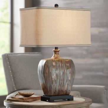 Julius Copper Drip Finish Ceramic Table Lamp
