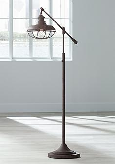 Floor lamps on sale best prices selection lamps plus franklin park ii industrial boom rust floor lamp aloadofball