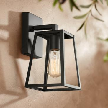 "Arrington 10 3/4"" High Mystic Black Outdoor Wall Light"