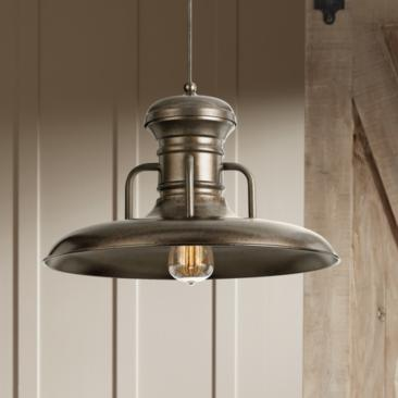 "Winterset 16"" Wide Rust Finish Pendant Light"